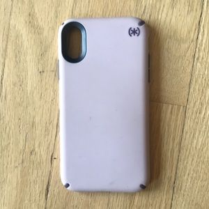 Speck pale pink iPhone X case